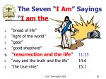 the seven i am sayings i am the82