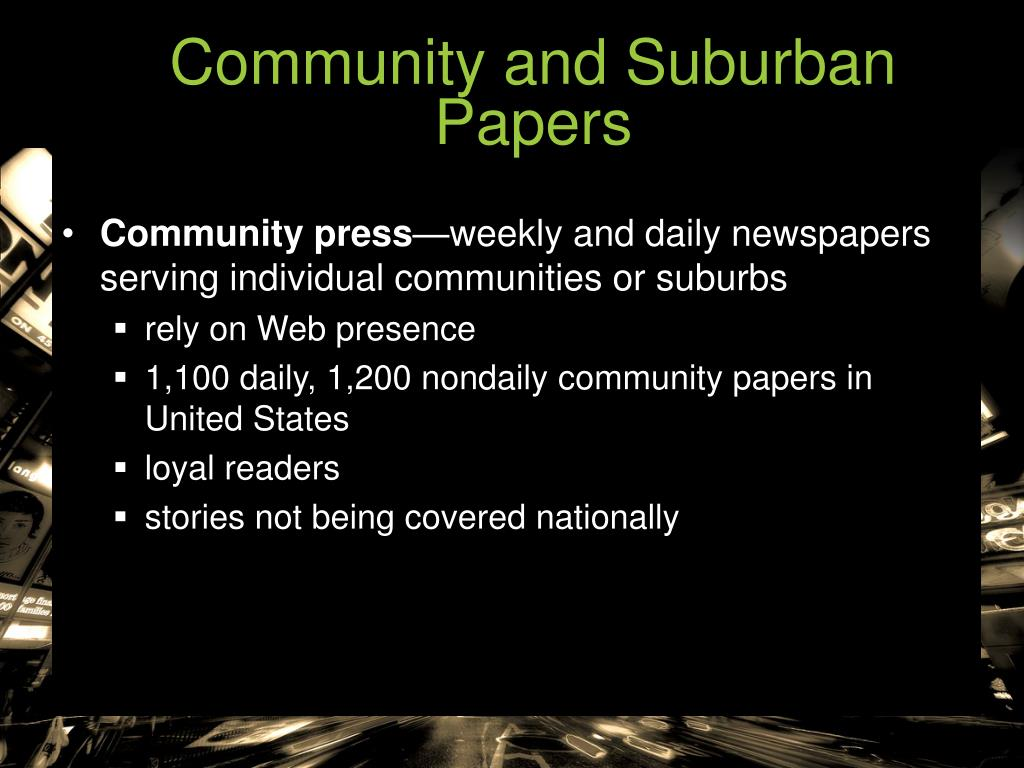 Community and Suburban Papers