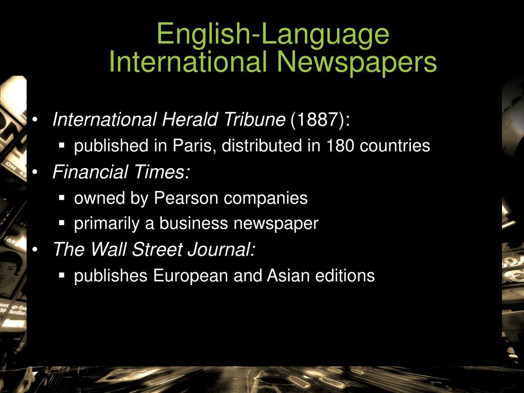 English-Language                       International Newspapers