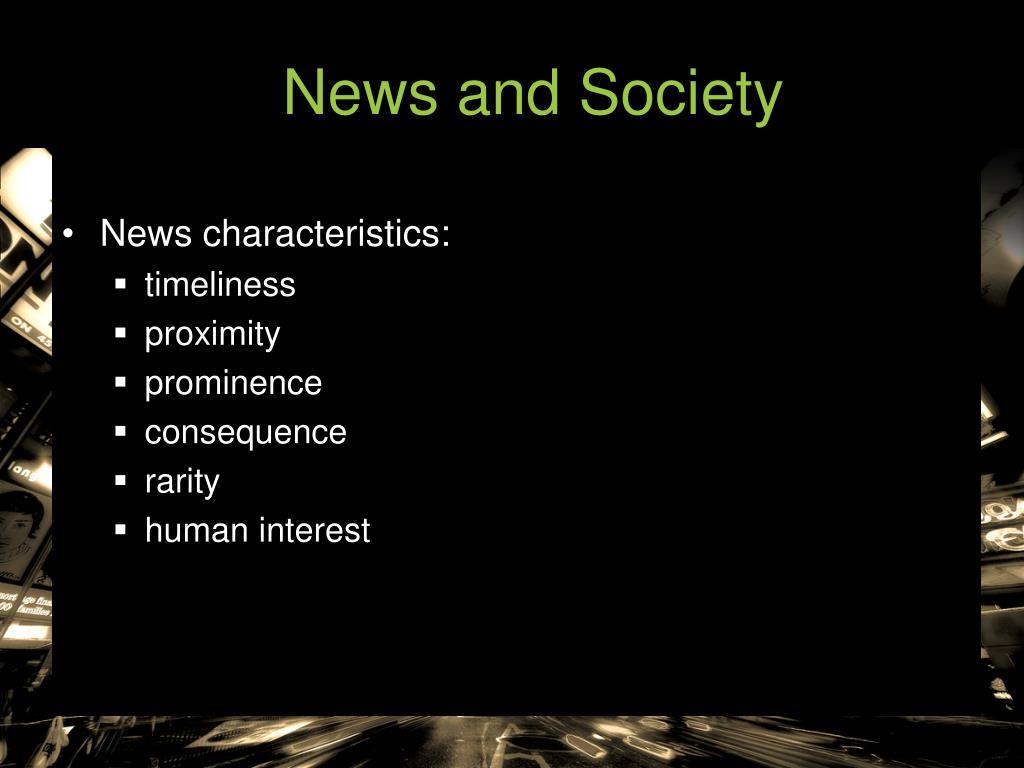 News and Society