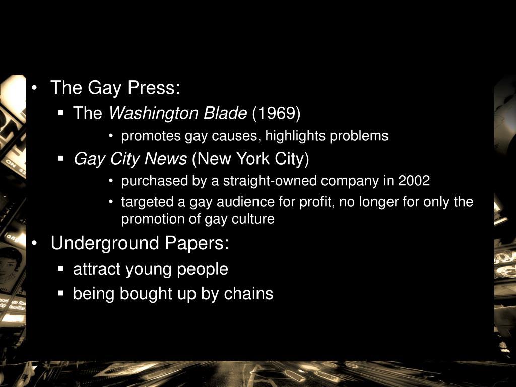 The Gay Press: