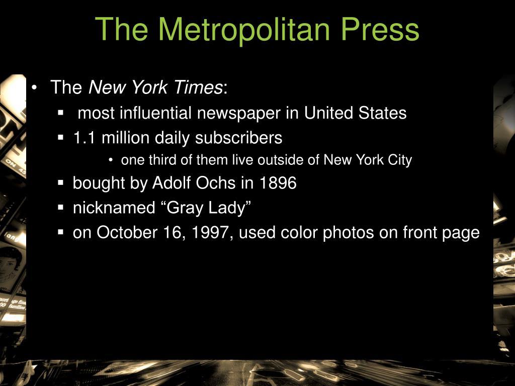 The Metropolitan Press