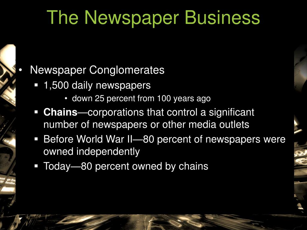 The Newspaper Business