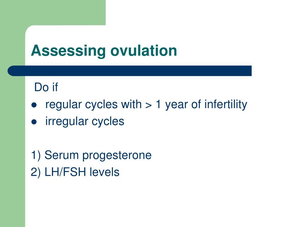 Assessing ovulation