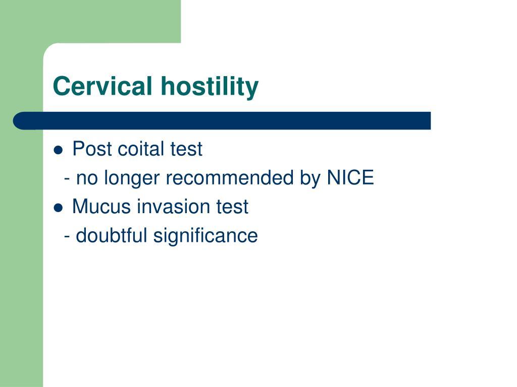 Cervical hostility