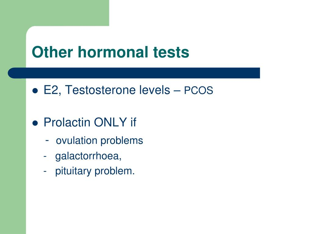 Other hormonal tests