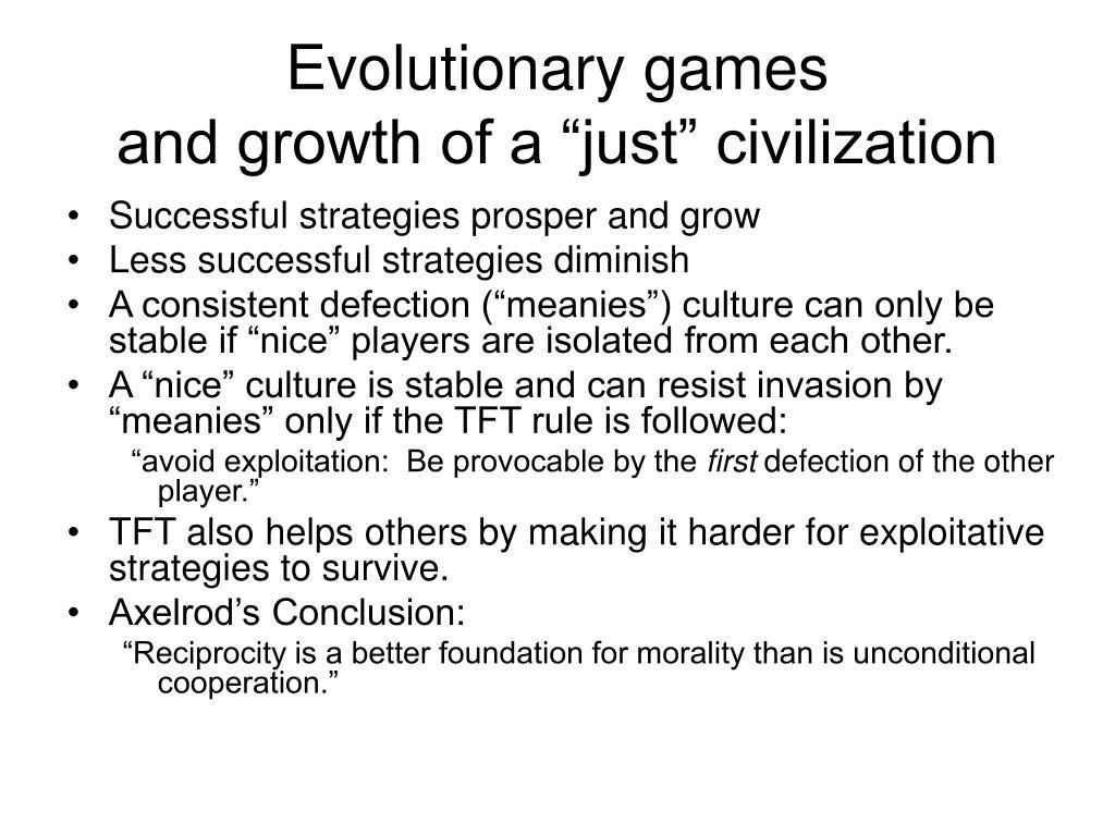 Evolutionary games