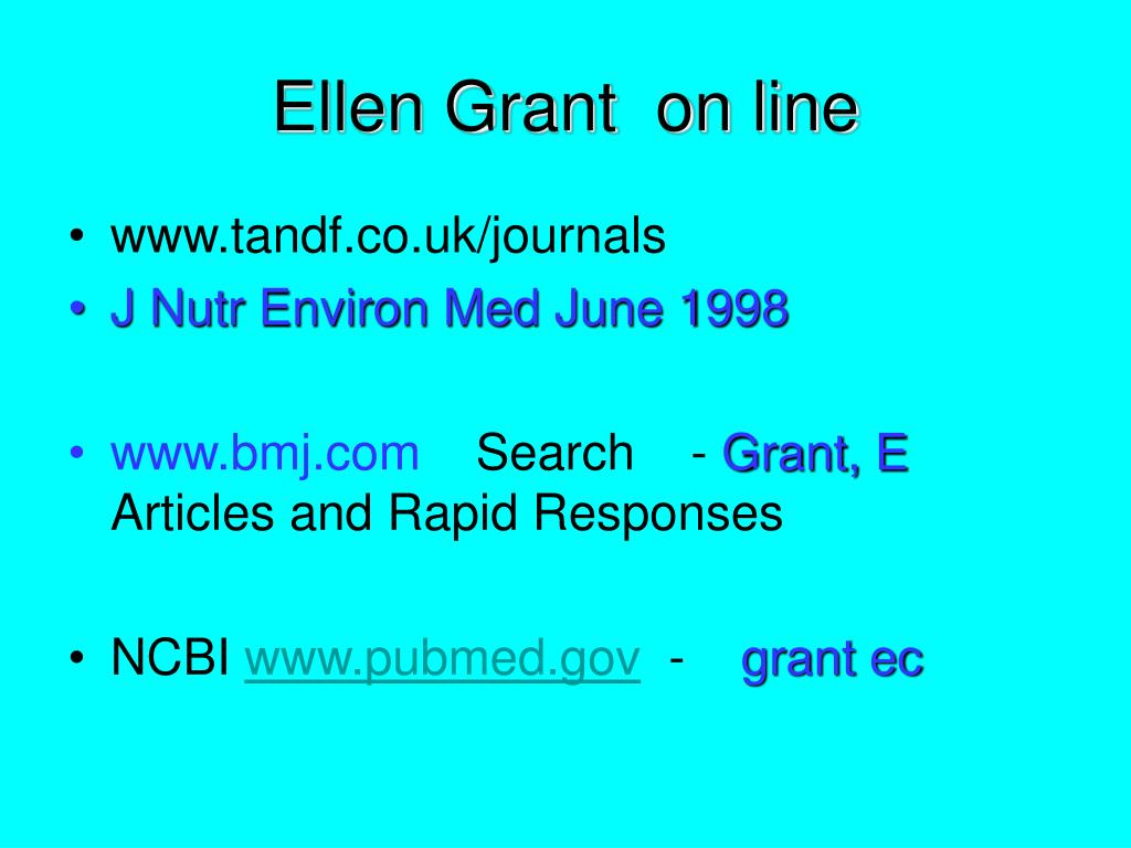 Ellen Grant  on line