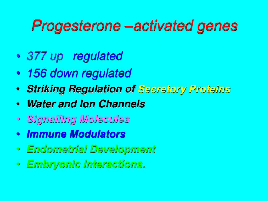 Progesterone –activated genes