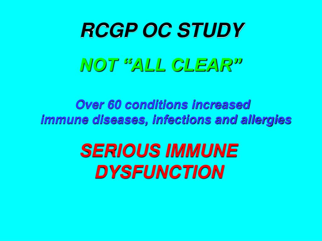 RCGP OC STUDY