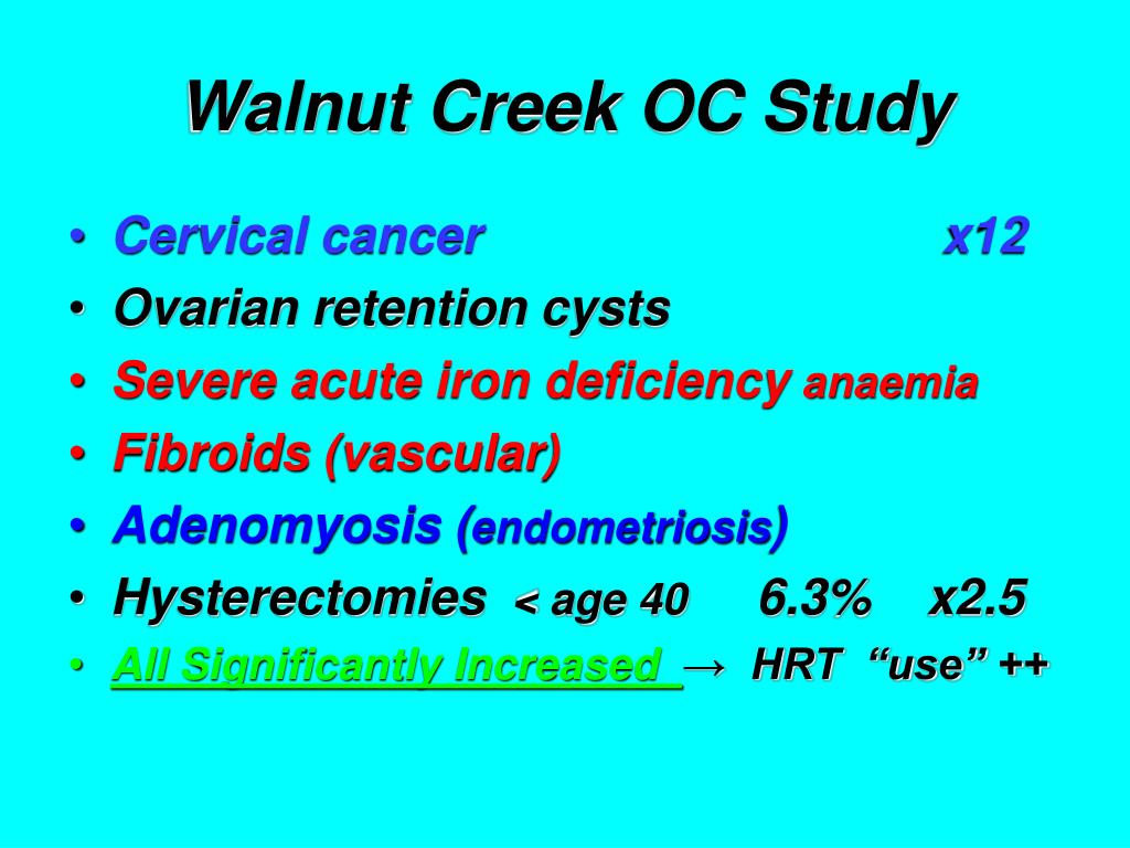 Walnut Creek OC Study