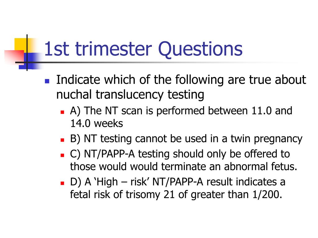 1st trimester Questions