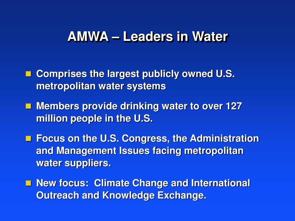 Comprises the largest publicly owned U.S. metropolitan water systems