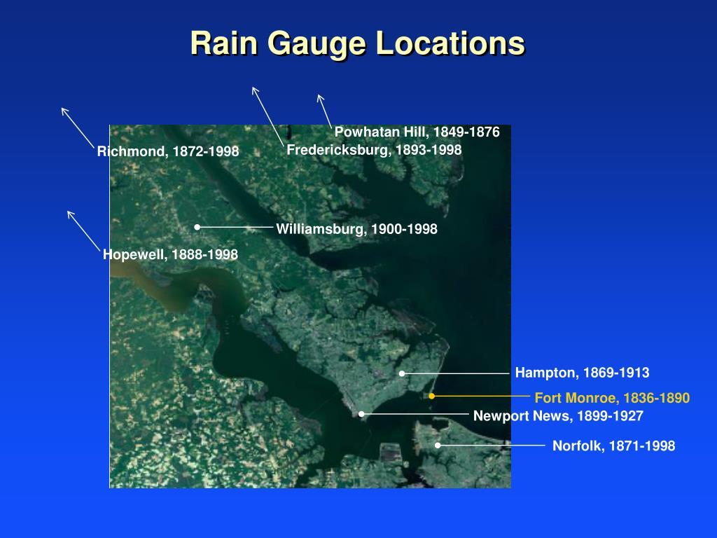 Rain Gauge Locations