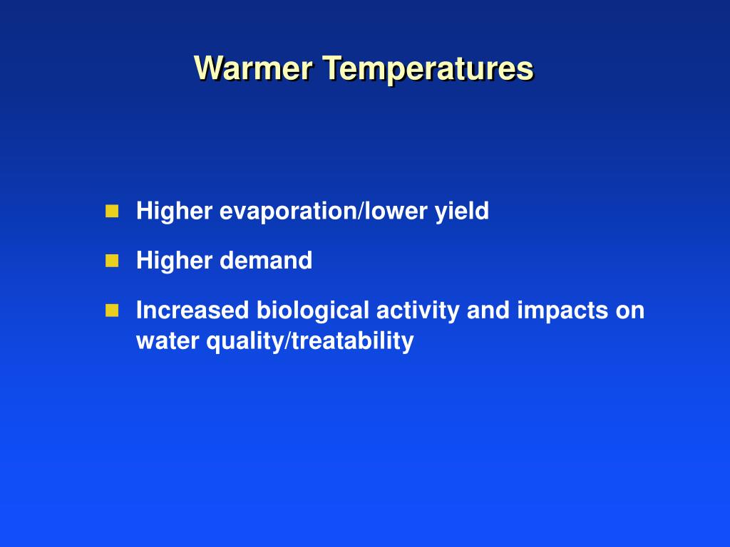 Warmer Temperatures