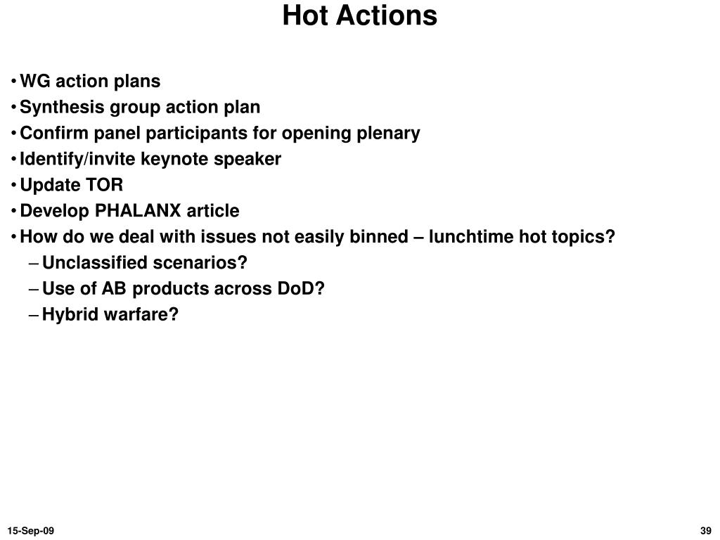 Hot Actions