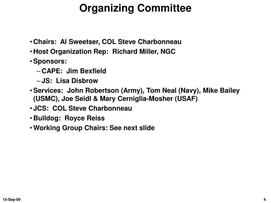 Organizing Committee