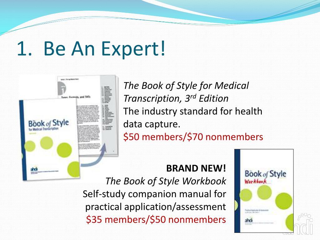 1.  Be An Expert!