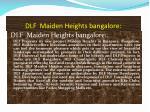 dlf maiden heights bangalore
