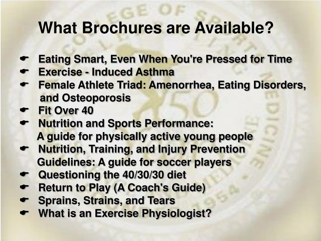 What Brochures are Available?