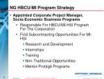 ng hbcu mi program strategy