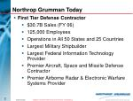 northrop grumman today