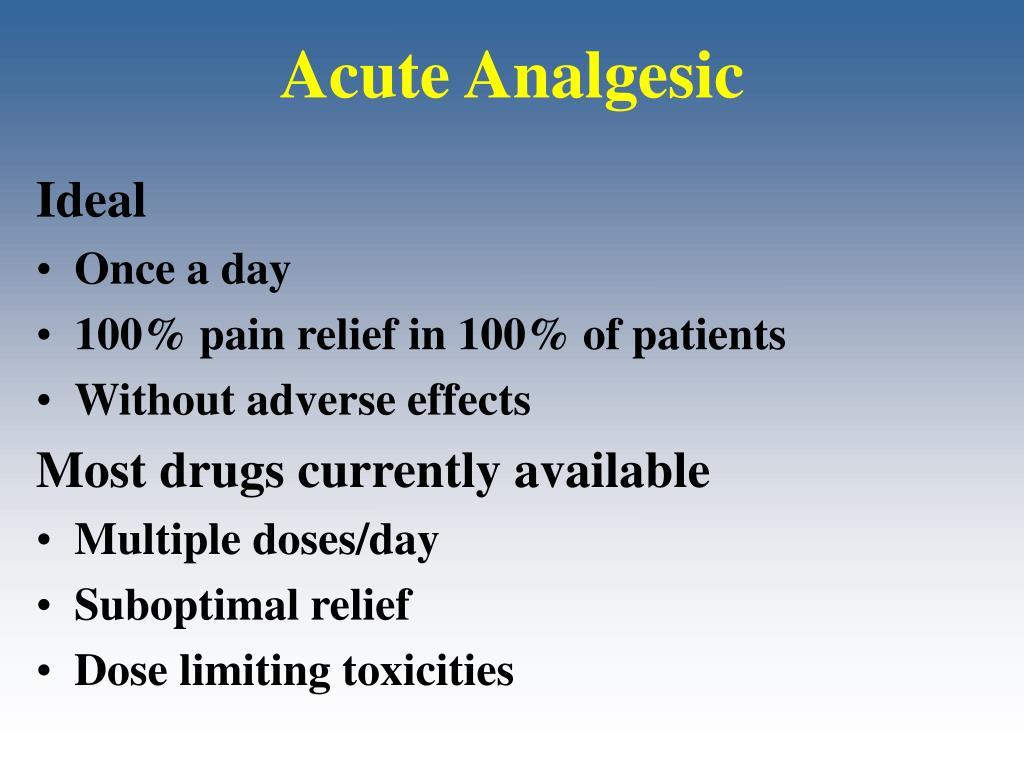 Acute Analgesic