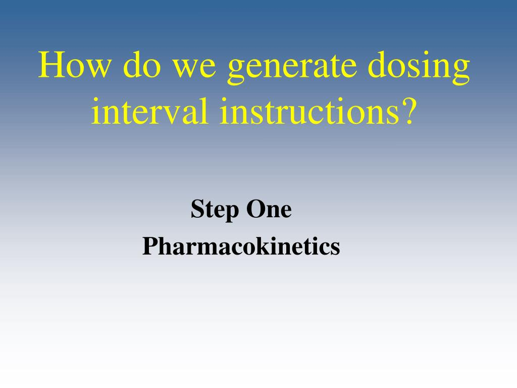 How do we generate dosing interval instructions?