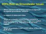 doi s role on groundwater issues