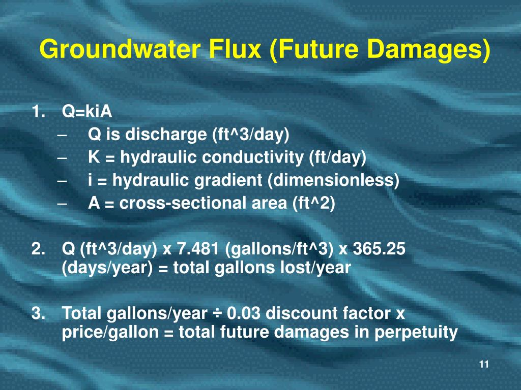 Groundwater Flux (Future Damages)