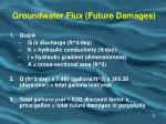 groundwater flux future damages