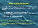 role of replacement
