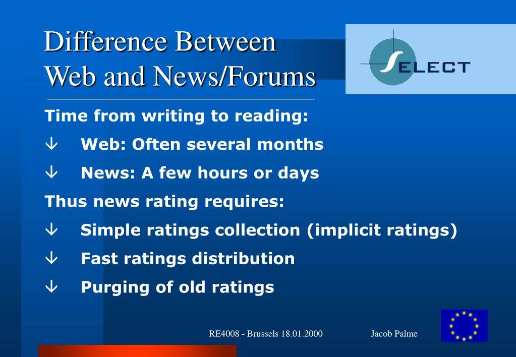 Difference Between Web and News/Forums