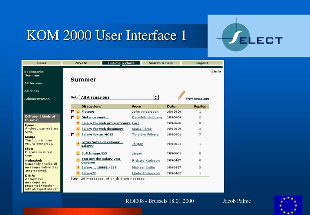 KOM 2000 User Interface 1
