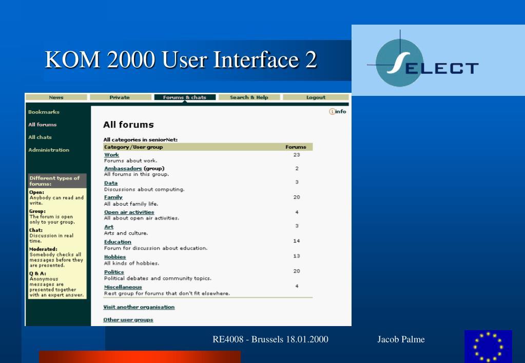 KOM 2000 User Interface 2
