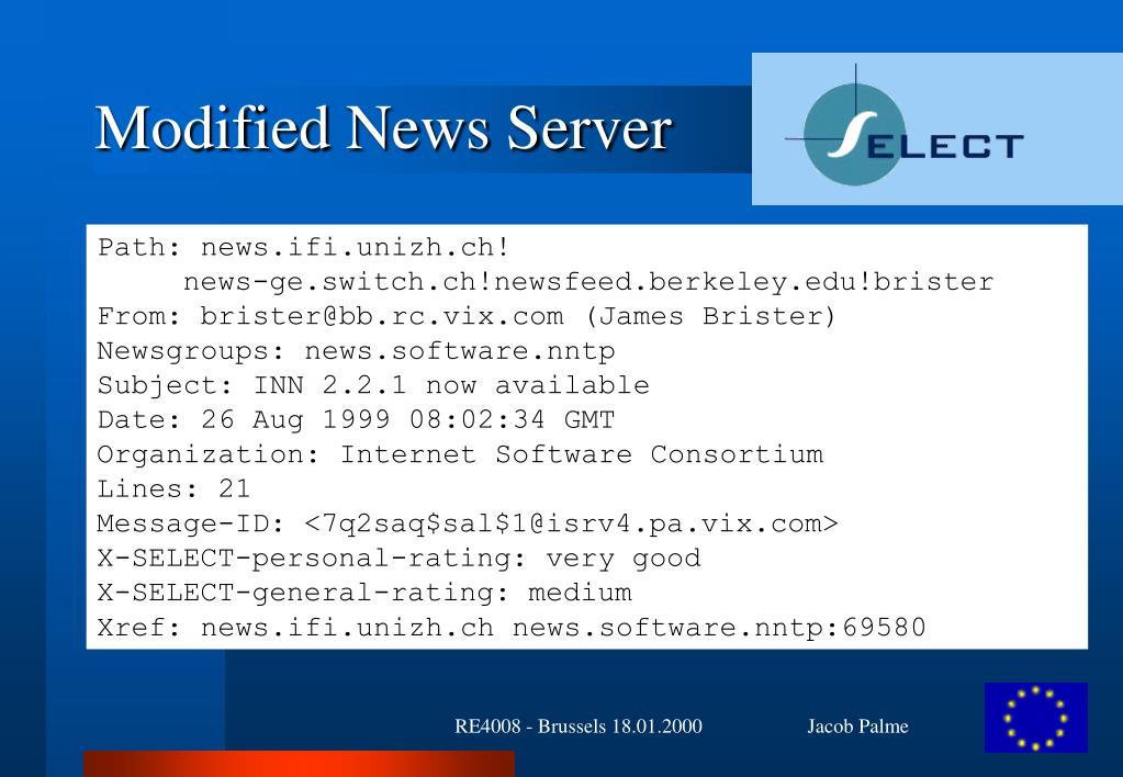 Modified News Server
