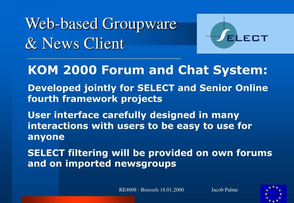 Web-based Groupware
