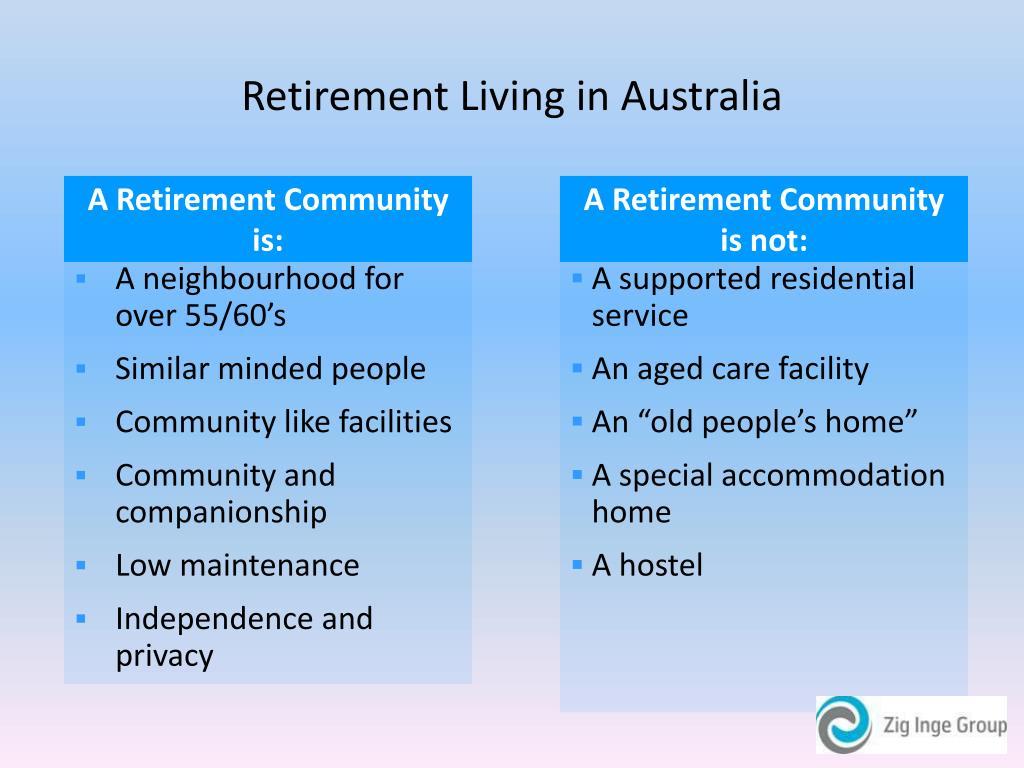 Retirement Living in Australia