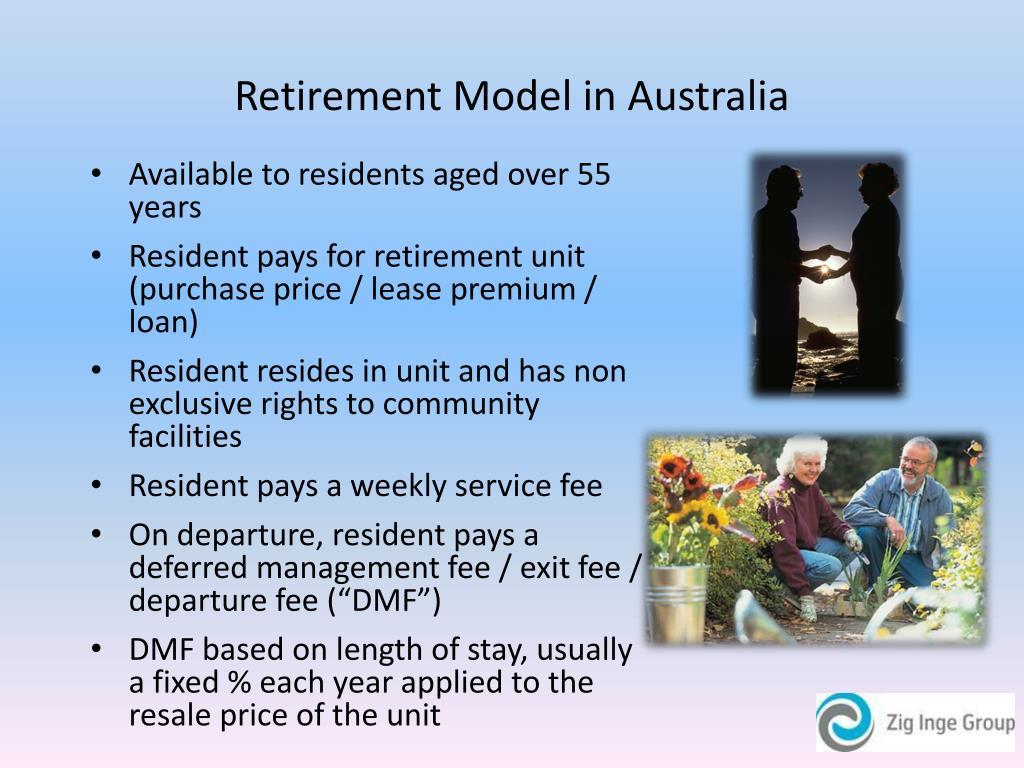 Retirement Model in Australia