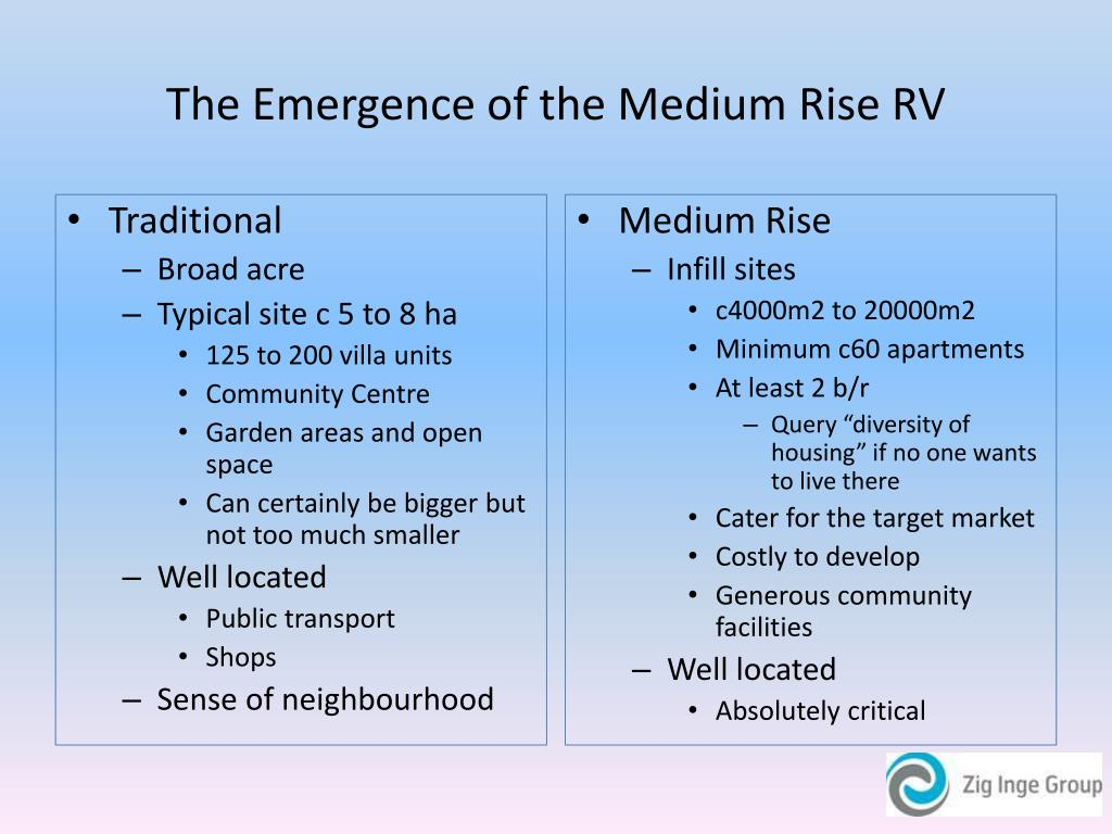 The Emergence of the Medium Rise RV