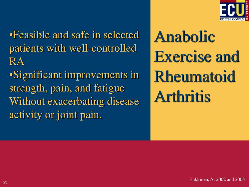 Anabolic Exercise and Rheumatoid Arthritis