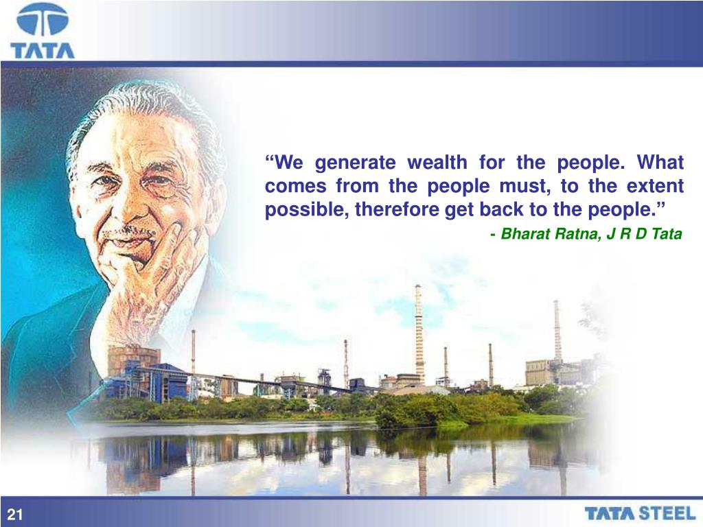 """""""We generate wealth for the people. What comes from the people must, to the extent possible, therefore get back to the people."""""""