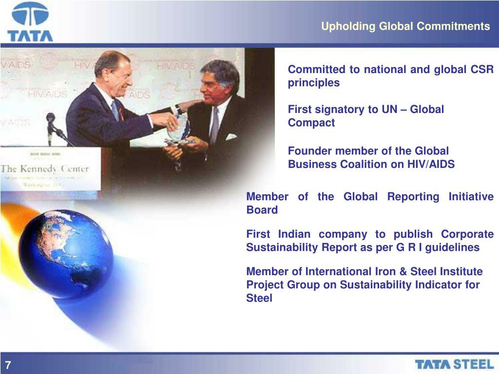 Upholding Global Commitments