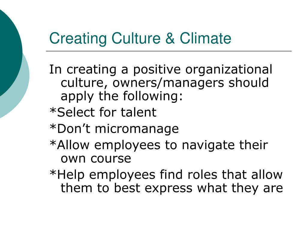 Creating Culture & Climate