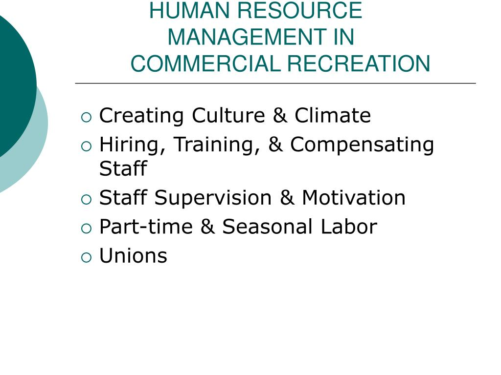 HUMAN RESOURCE        MANAGEMENT IN
