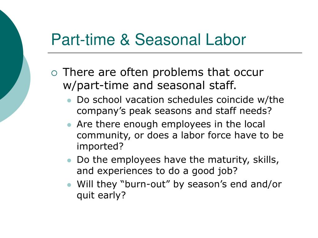Part-time & Seasonal Labor
