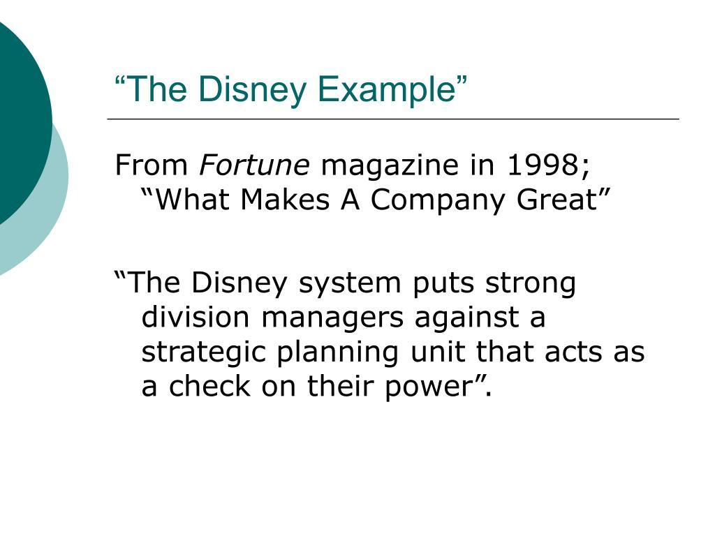 """""""The Disney Example"""""""