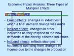 economic impact analysis three types of multiplier effects