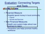 evaluation connecting targets and tools28