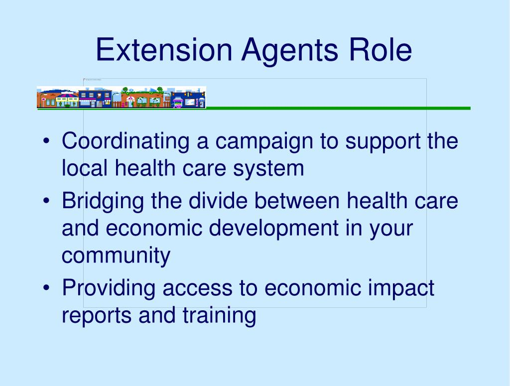 Extension Agents Role